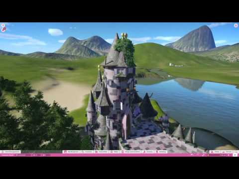 Planet Coaster Fantasy fairytale castle/entrance