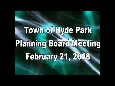 Hyde Park Planning Board 2-21-18