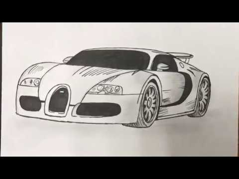 Simple Bugatti Veyron Drawing Youtube
