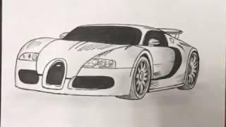 Simple Bugatti Veyron drawing