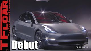 Tesla Model 3 Revealed: Debut, Facts & Figures Slide Show