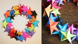 Paper Star Wall Hanging Decor - Paper Craft - Paper Star - Home Decor