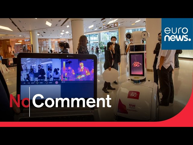 Robots deployed to shopping malls to prevent COVID-19 spread