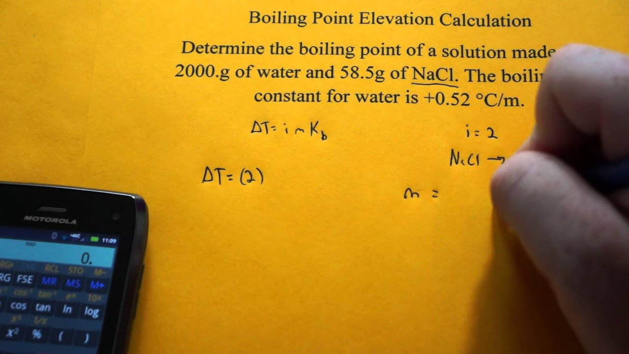 Boiling Point Elevation Calculation NaCl YouTube - How to determine elevation