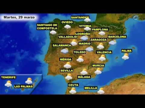 El tiempo en Espaa por CCAA para hoy lunes 28 y maana martes