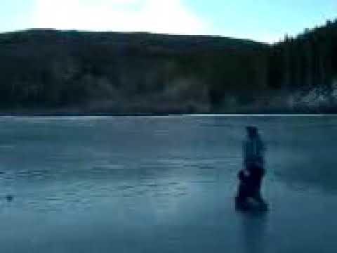 Matty And Kimmy On Frozen Rainbow Lake Frisco Colorado 2012