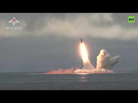 Пуск ракеты «Булава» в Баренцевом море — видео