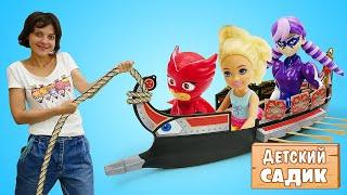 ГЕРОИ мультиков против Непогоды - Игры для детей в Морской бой  - Развивающие видео
