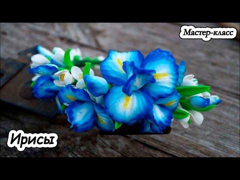 Ирисы  ❤ Мастер-класс ❤ Полимерная глина  ❤ Цветы из пластики ❤ Polymer clay tutorial