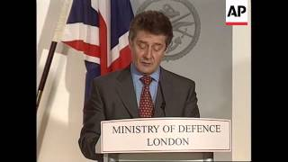 UK: KOSOVO CRISIS: MINISTRY OF DEFENCE BRIEFING