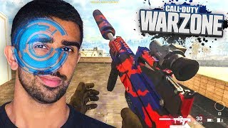 Playing WARZONE With EYE TRACKER! ft. Lando Norris & Calfreezy