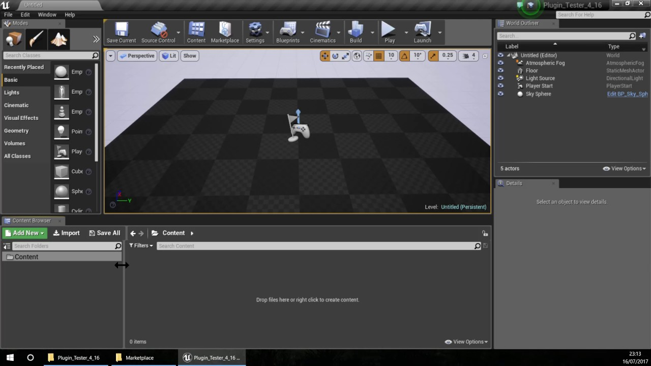 Unreal Engine 4 Tutorial - How to make a Plugin - Part04 - Testing the  plugin