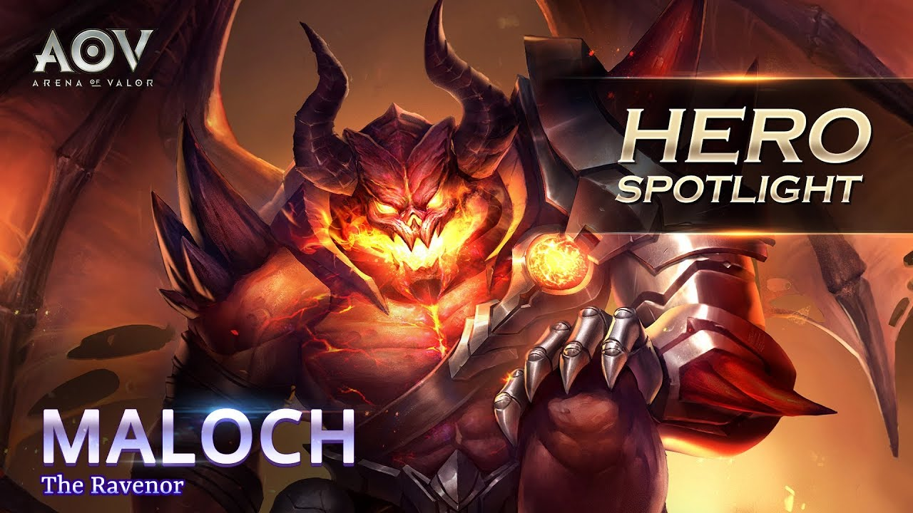 Maloch Hero Spotlight Garena Aov Arena Of Valor