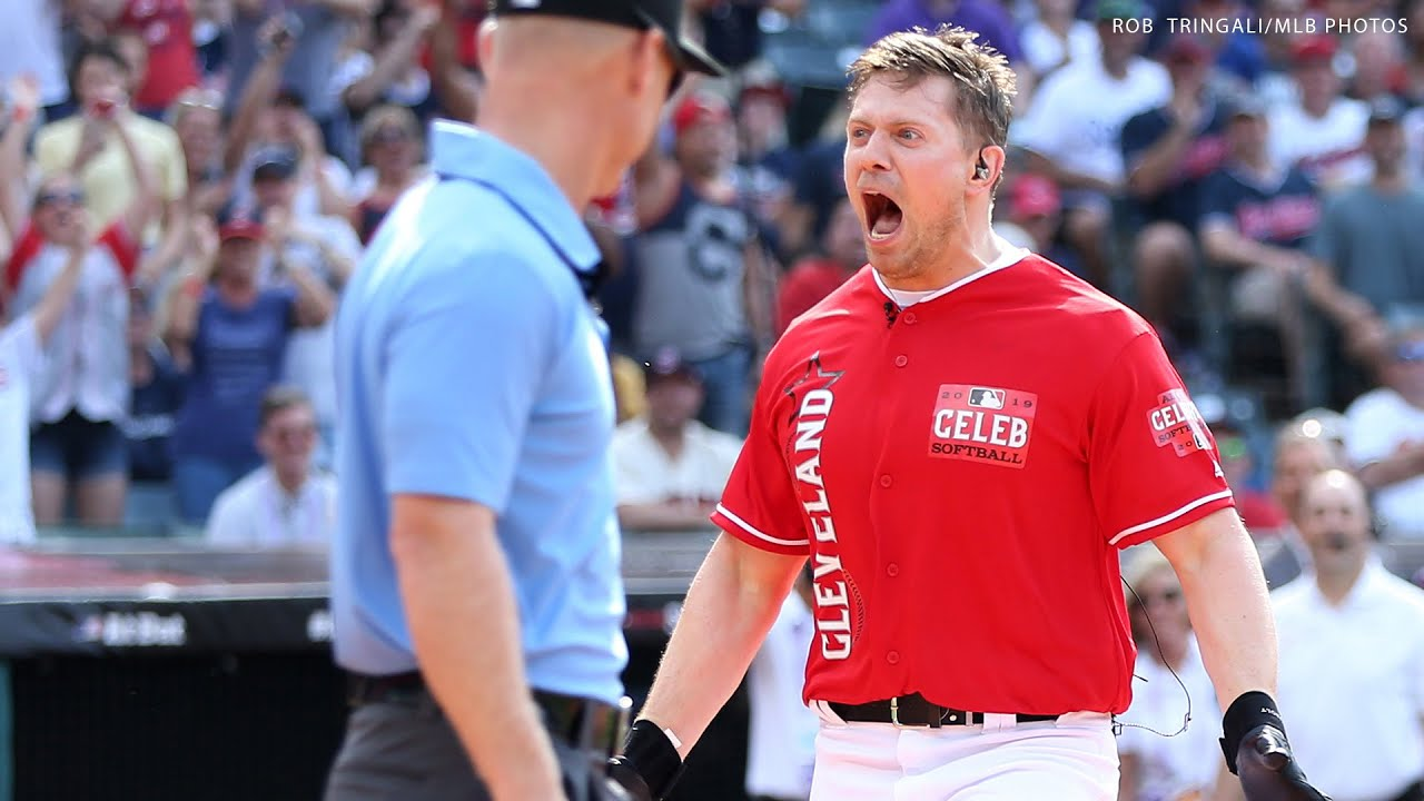 The Miz leads Cleveland against the World at the MLB Celebrity Softball Game