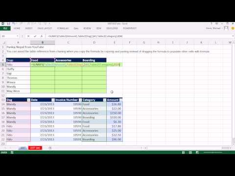 Excel Magic Trick 1037: Make Table Reference Absolute by Copying And Pasting Instead Of Dragging