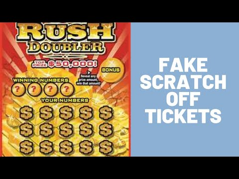 😱 FAKE SCRATCH OFF TICKETS😱 😁 HOW TO PULL THE WINNING LOTTERY PRANK 😁 🤣