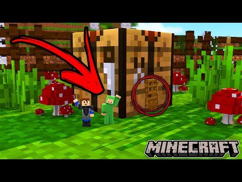 LIVING INSIDE THE WORLDS LARGEST CRAFTING TABLE WITH LITTLE LIZARD - Minecraft