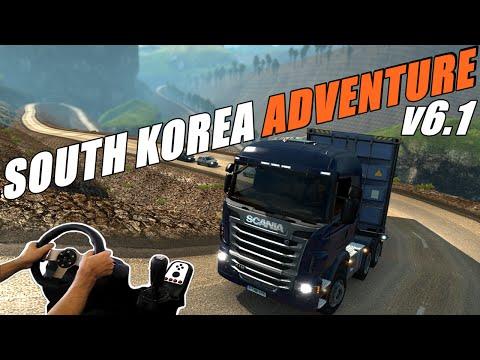 PONTE LONGA E MUITA SERRA - MAPA SOUTH KOREA ADVENTURE 6.1 - VOLANTE G27!!!