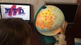 Глобус 30см физическо-политический с подсветкой Сафари (англ.) 5183