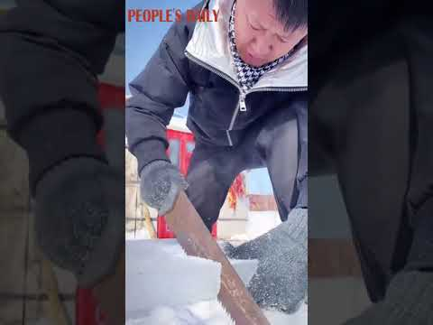 How do people living in north China's grassland store food in winter?