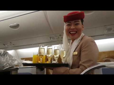 EMIRATES AIRLINE BUSINESS CLASS TRAVEL  A380 2017