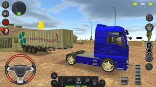 Direksiyonlu Kamyon Sürüş Oyunu - Çocuk Kamyon Oyunları 13  Truck Simulator  Europe