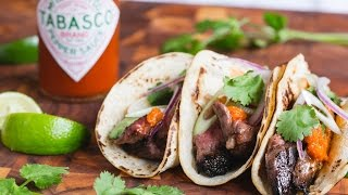 Mario Batali's Sweet & Spicy Steak Fajita Tacos