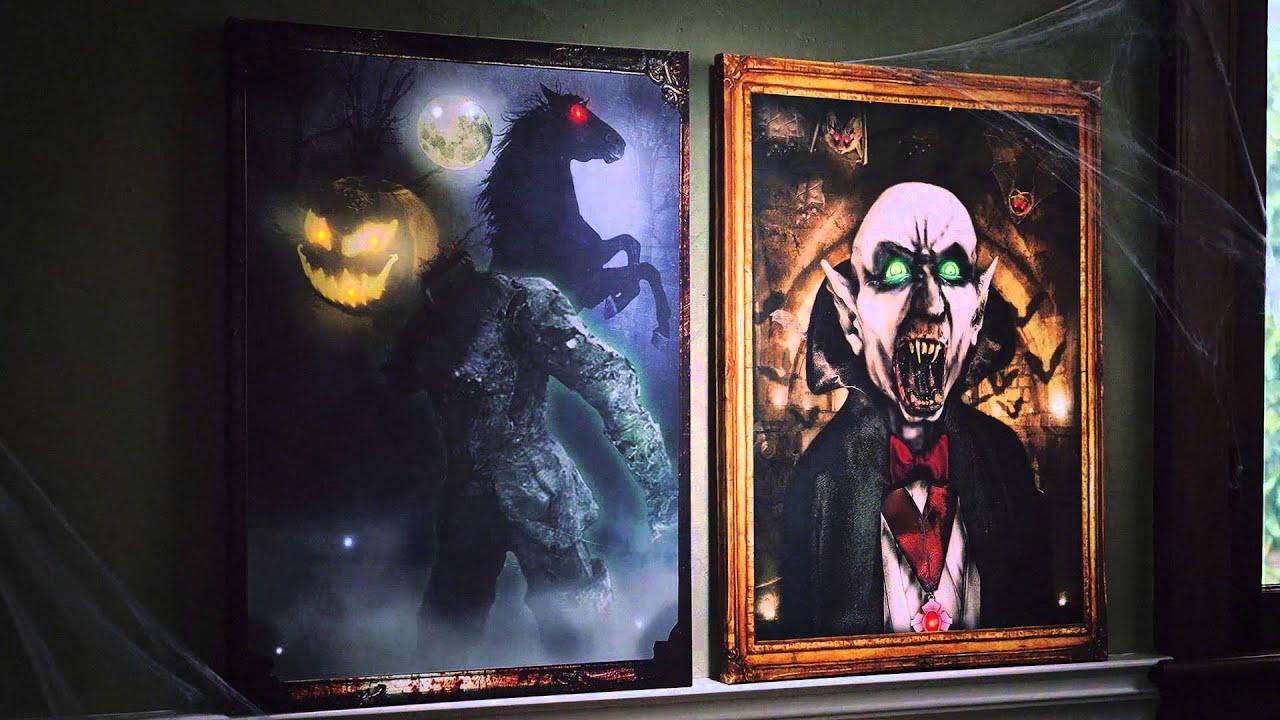 Light Up Halloween Canvas