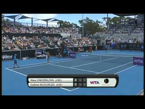 Klara Zakopalova vs Garbine Muguruza, Hobart International 2014 - Full Match