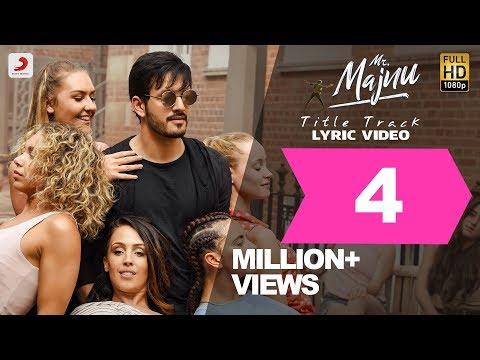 Mr. Majnu - Title Track Lyric Video (Telugu) | Akhil Akkineni | BVSN Prasad | Thaman S, Venky Atluri