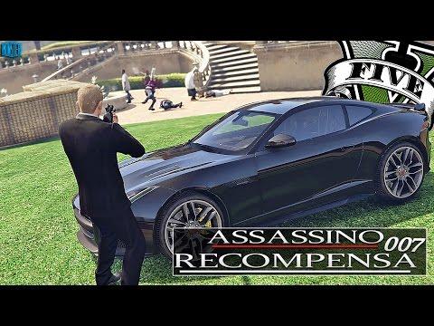 GTA V - ASSASSINO DE RECOMPENSA 007 - ASSASSINADO o Traficante Em sua Mansão  | EP08 (GTA 5 Mods)