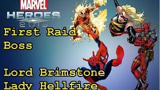Marvel Heroes 2015: Raid First Boss Siblings Lord Brimstone and Lady Hellfire in Muspelheim