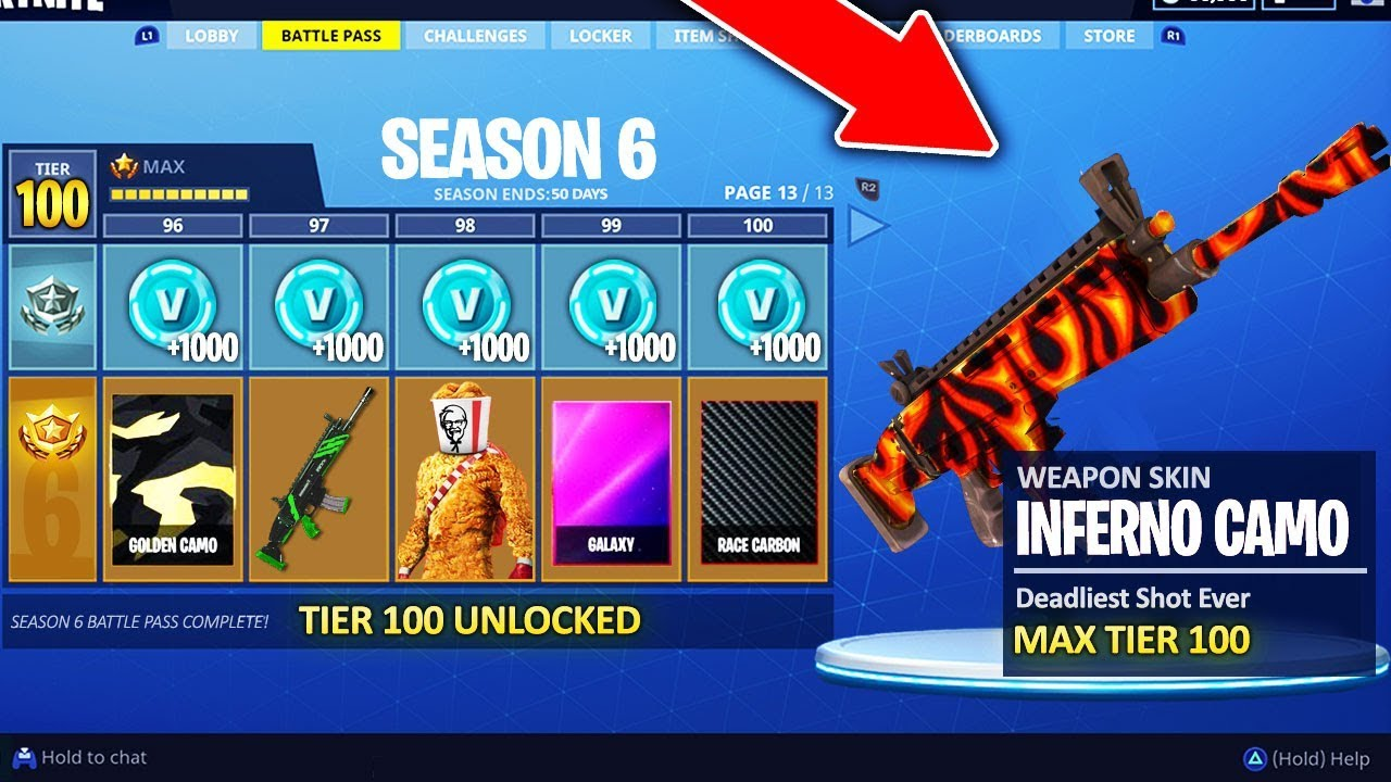 New Season 6 Battle Pass Leaked Fortnite Battle Royale Youtube