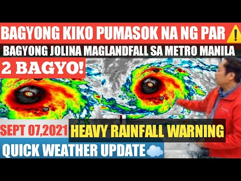 2 BAGYO LUMAKAS NA|WEATHER UPDATE TODAY|SEPTEMBER 7,2021|PAG ASA WEATHER FORECAST
