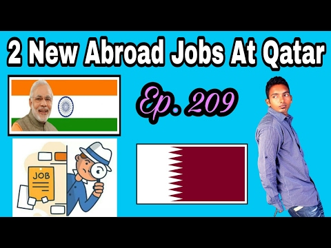 2 New Jobs At Qatar country,  Must Apply For Abroad And Gulf Jobs From This YouTube Channel, Hindi