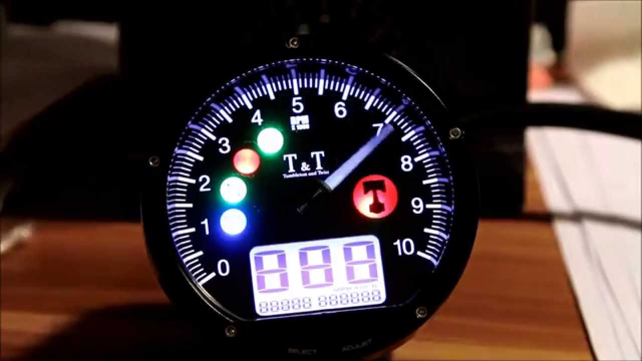 T Amp T Tacho Drehzahlmesser Instrument Test Youtube