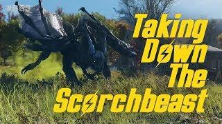 Taking Down A Scorchbeast in Fallout 76!
