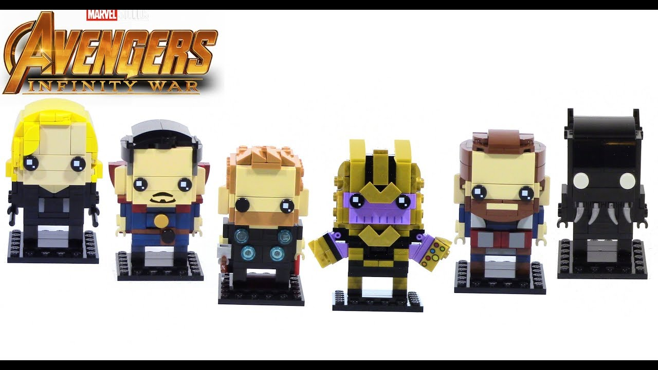 Brickheadz Avengers 3 Infinity War End Game Figures Iron Man Thor Thanos