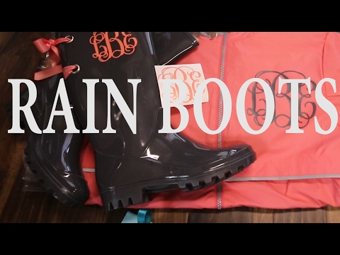 How To Monogram Rain Boots And Add Bows And Grommets To Them! Cute Rain Boots