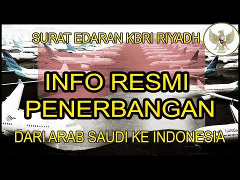 INFORMASI PENERBANGAN DARI ARAB SAUDI KE INDONESIA  MELALUI SURAT EDARAN KBRI RIYADH.-SMB-Studio29id