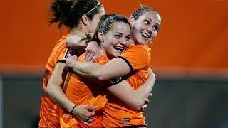 Highlights Oranjevrouwen-Albanië (10-1) 10-04-2014