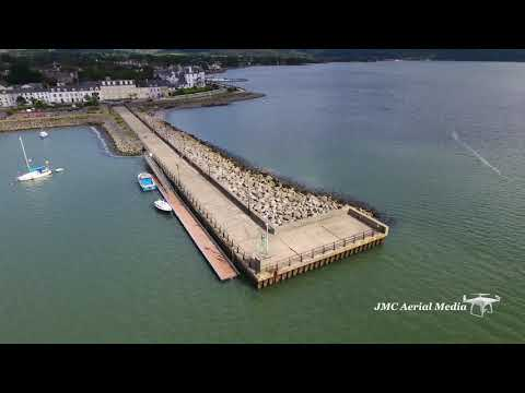 Warrenpoint in Northern Ireland in 4K Drone Aerial View