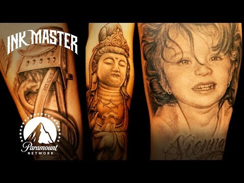 Best Tattoos Of Ink Master (Season 1) | Child Portraits & Photorealism