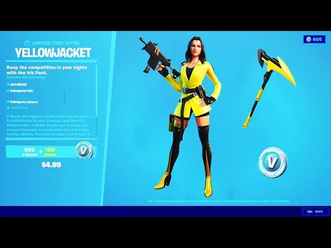 How To Get The YELLOW JACKET Skin In Fortnite! (Showcase)