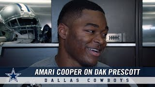Dallas Cowboys wide receiver Amari Cooper spoke with the media Wedn...