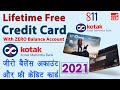 Kotak Zero Balance Account Opening Online Kotak 811 Credit Card Apply 2021 Full Guide In Hindi