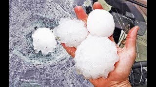 Tornado and Huge Hail Storm Italy, Compilation, Grandine grandi Italia
