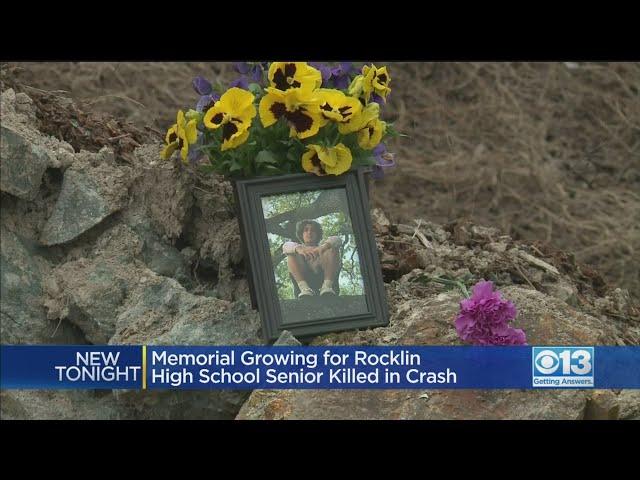 Memorial Growing For Rocklin High School Senior Killed In Crash