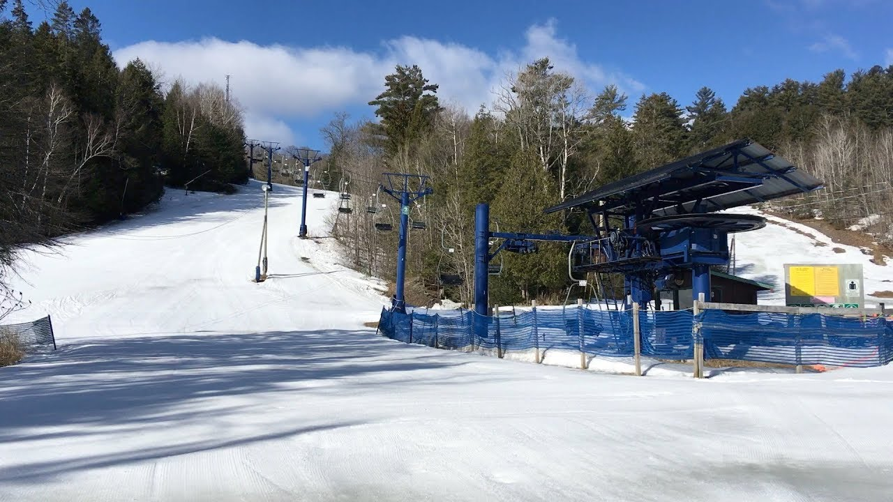 Blue Chair - Ski Vorlage / Poma Double Chairlift