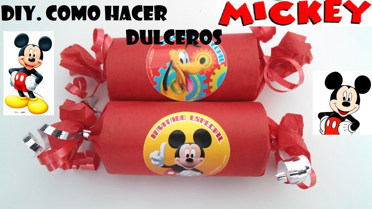 DIY.COMO HACER DULCERO FACIL DE MICKEY MOUSE - YouTube